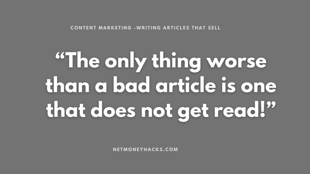 Content Marketing -Writing Articles that Sell 1