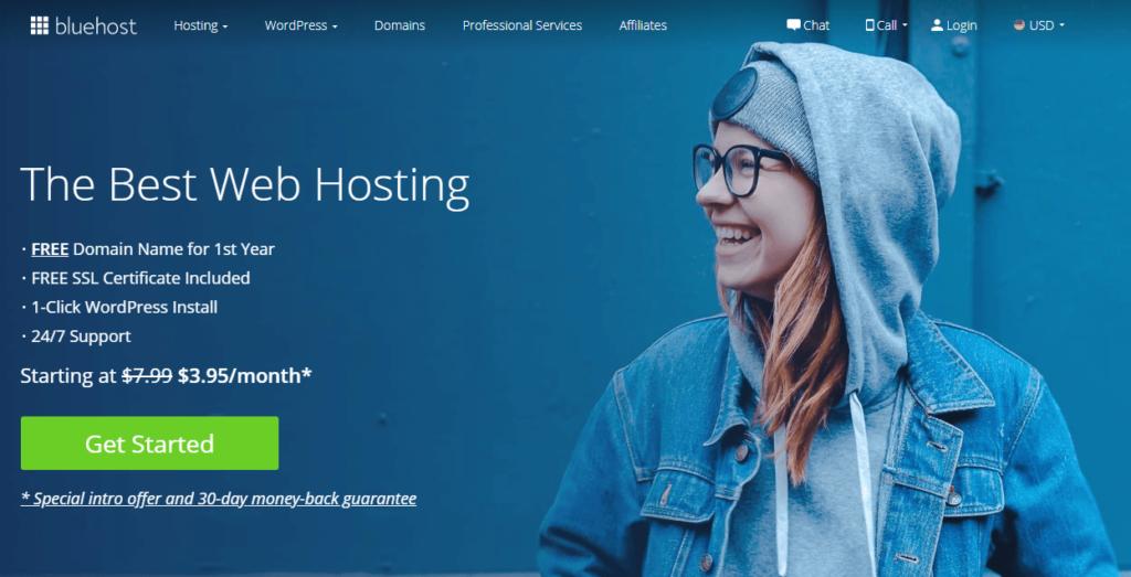 Bluehost Web Hosting Internet Marketing Tool