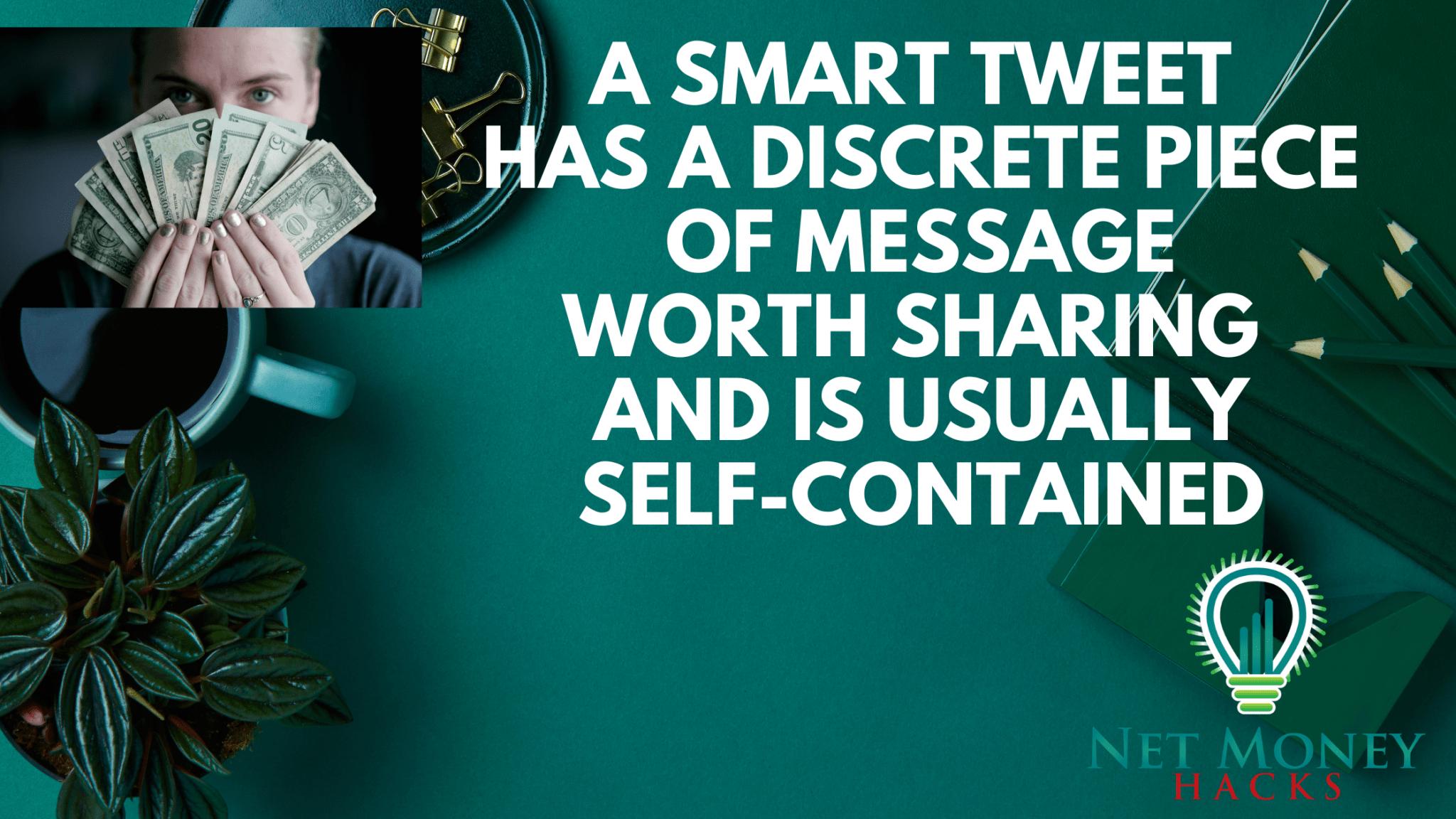 A smart definition of a smart tweet