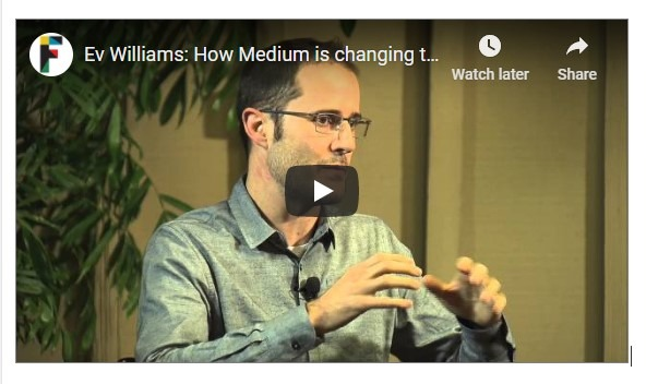 Video interview -How Medium is changing publishing