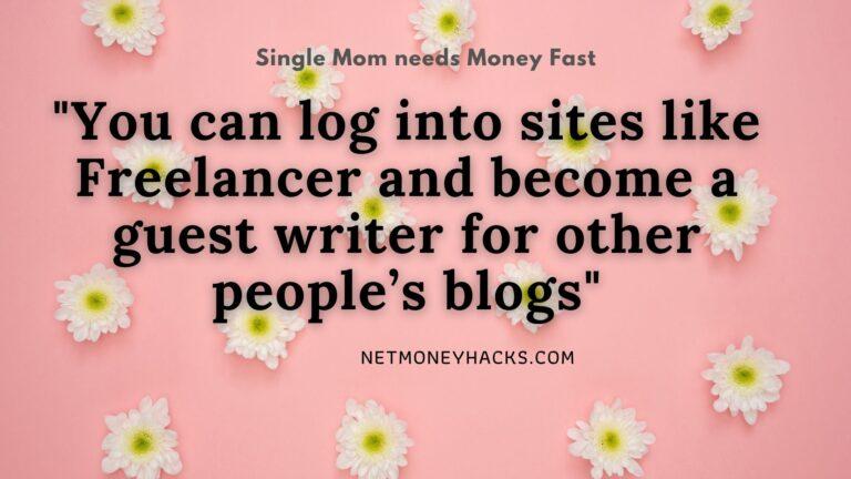 Single mom needs money fast banner