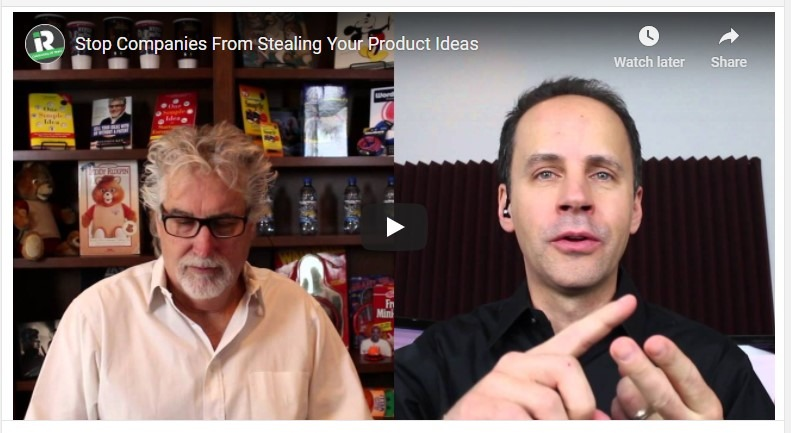 An image of two men presenting a video