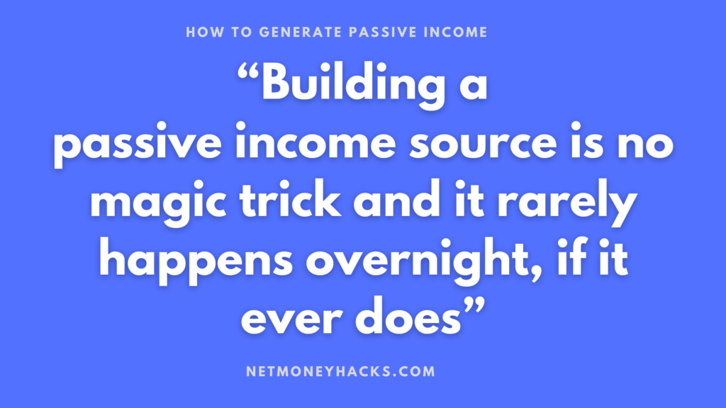 How to generate passive income quote